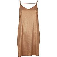 Leichtes Kleid in Bronze