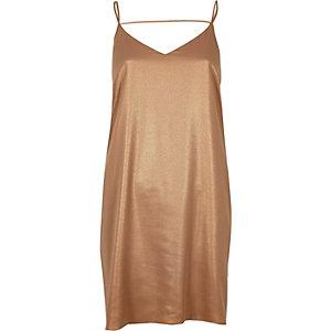 Bronze slip dress