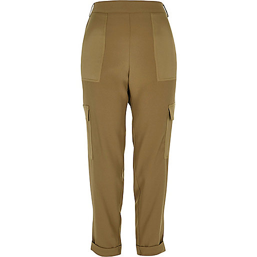 Khaki soft combat trousers