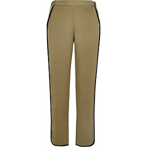Khaki soft jogger trousers
