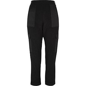 Pantalon doux noir style militaire