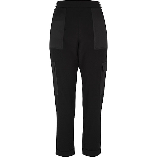 Black soft combat trousers