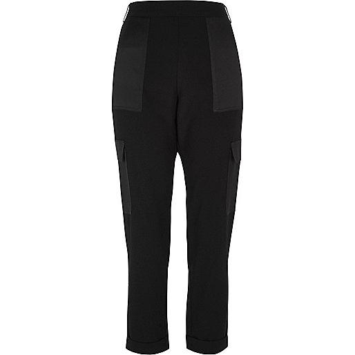 Black soft combat pants