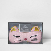 Pink cat fragrant eye mask