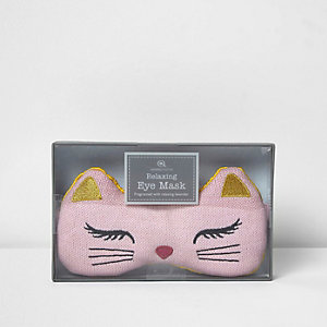 Masque motif chat rose parfumé