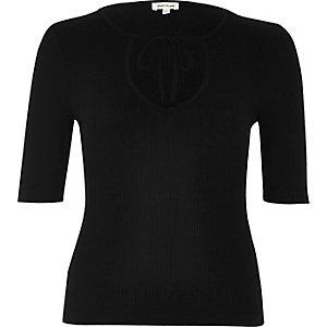 Black tie front top