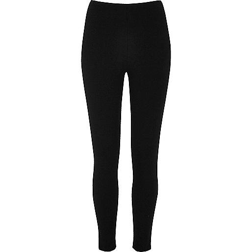 Black ribbed leggings