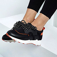RI Studio black chunky runner trainers