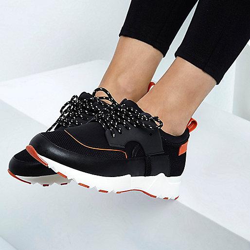 RI Studio black chunky runner sneakers