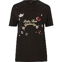 Bedrucktes T-Shirt mit Pailletten