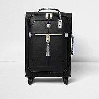 Black snake print suitcase