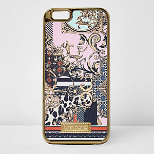 Pink scarf print iPhone 6 case