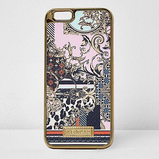 Rosa iPhone-6-Hülle mit Schalprint