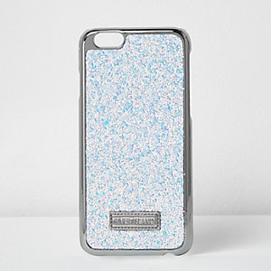 White glitter metallic iPhone 6 case