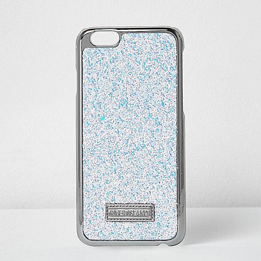 White glitter metallic iPhone 6 case