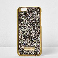 iPhone 6-Hülle in Goldglitzer-Metallic