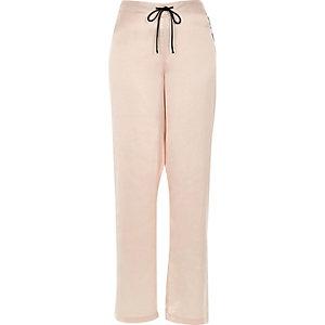 Cream satin pyjama trousers