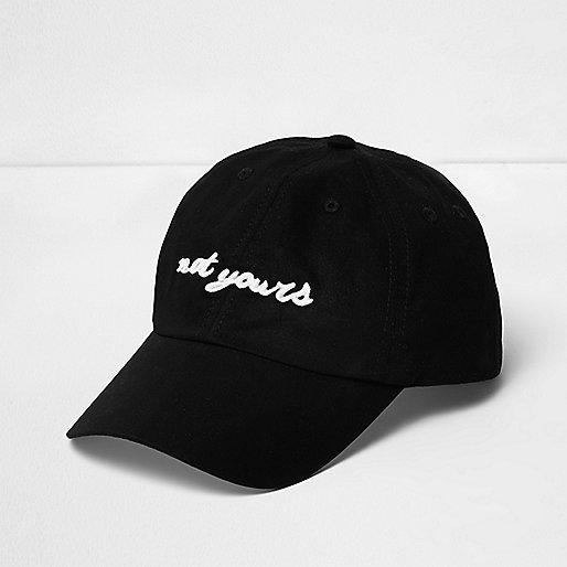 Black 'Not Yours' cap