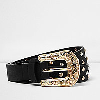 Gold western stud belt
