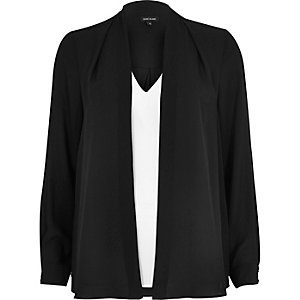 Black and white hybrid blouse