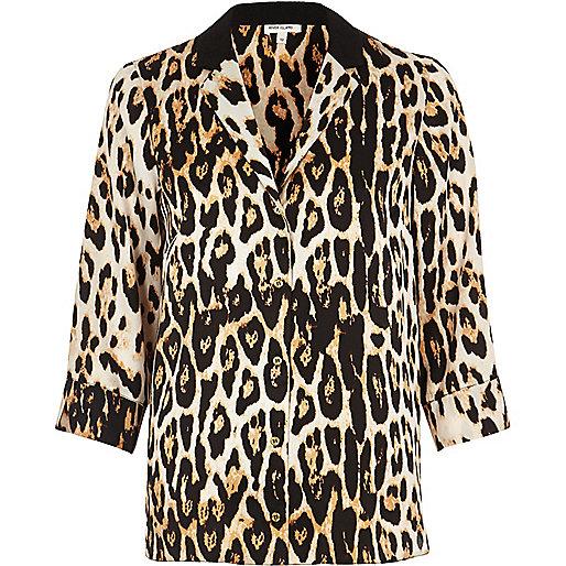 Animal Print Shirt Womens