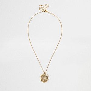 Gold tone filigree necklace
