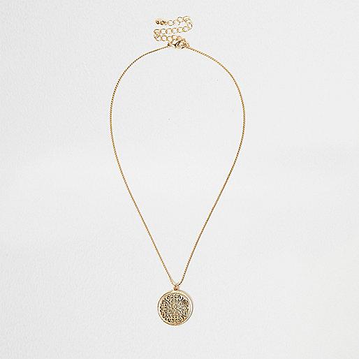Goldene feine Halskette