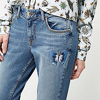 Petite embroidered Alannah jeans
