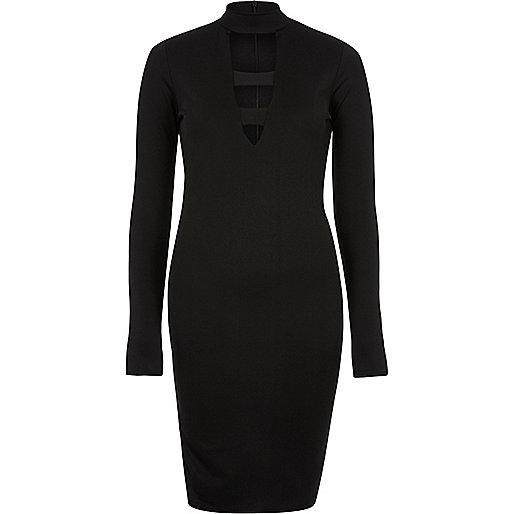 Figurbetontes Kleid mit tiefem Ausschnitt