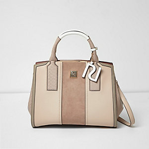 Nude panel tote bag
