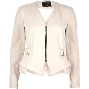 Cream peplum jacket