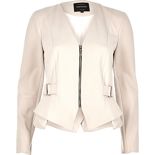 Cream peplum jacket