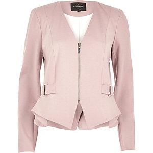 Pink peplum jacket