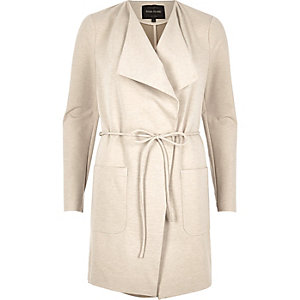 Cream string tie wrap jacket