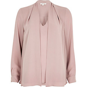 Dark pink hybrid blouse
