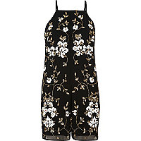 Black and gold embellished playsuit