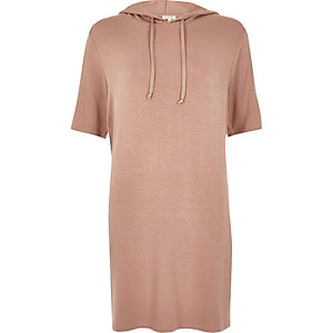 Pink hooded tunic