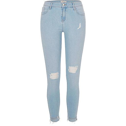 Amelie – Superenge Skinny jeans im Used-Look