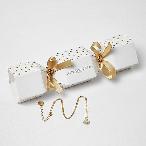 Johnny Loves Rosie gold plated bracelet