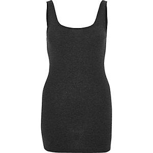 Charcoal grey scoop neck vest