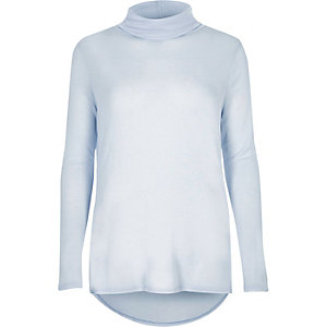 Light blue turtleneck top