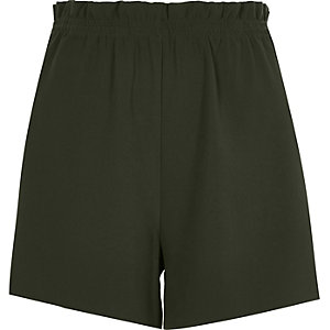 Khaki green casual shorts