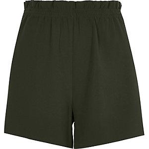 Short doux vert kaki