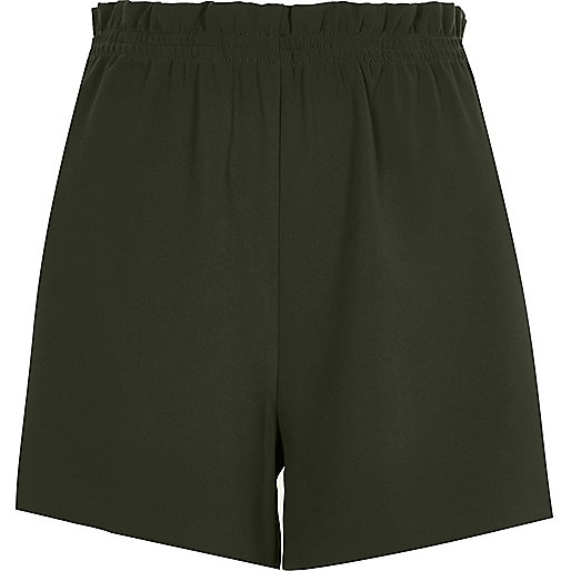 Khaki green casual shorts