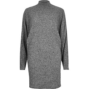 Light grey turtleneck dress