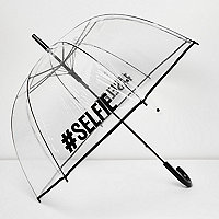 Transparent #Selfie umbrella