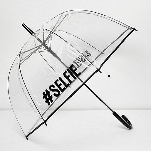 #Parapluie transparent pour selfie