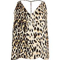 Caraco Plus imprimé léopard à bretelles en T