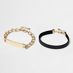 Black and gold bracelet pack