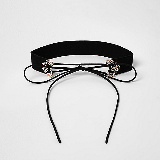 Black filigree corset choker